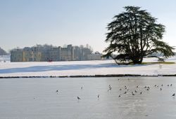 Leeds Castle winter scene