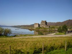 Loch Duich and Eilean Donan Castle from the A87