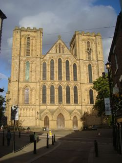 Ripon Cathedral from Kirkgate