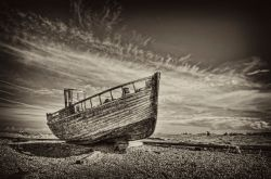 High and dry - Dungeness, Kent.