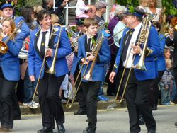 Helston Town Band celebrate Flora Day
