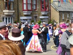 The mid-day Flora Dance at Helston