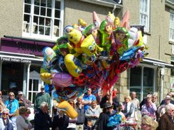 Balloon man at Helston's Flora Day