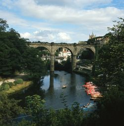 The River Nidd at Knaresborough, North Yorks.