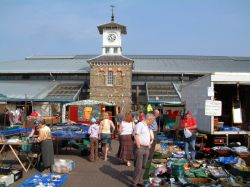 The open air market, Carmarthen Wallpaper