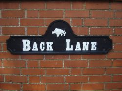 Back Lane sign