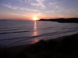 Sunset at Whitesands Bay near St Davids