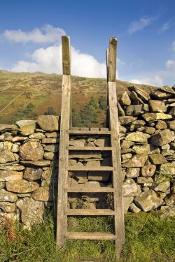Ladder stile above Ambleside
