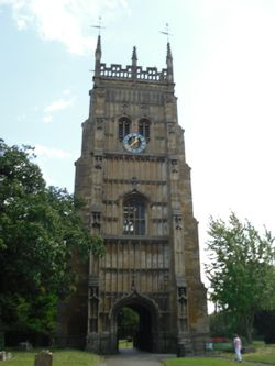 Evesham, the belltower of the former Abbey