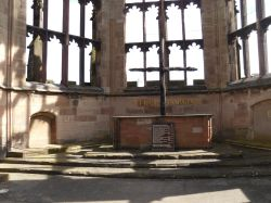 Coventry, the chancel of the ruined Cathedral