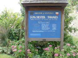 Dorchester-On-Thames, the plate near the Abbey