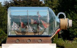 HMS Victory in a Bottle