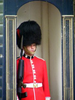 Guard outside Lancaster House, London