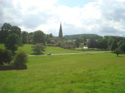 Edensor and the B6012 from the Chatsworth Estate