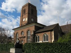 Chelsea Old Church and Statue of Sir Thomas More