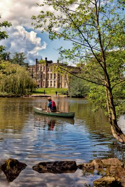Across the lake to Elvaston Castle