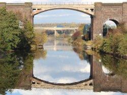 View from Frodsham Swingbridge