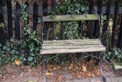 Old seat outside St Mary's Church