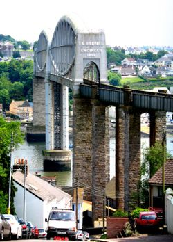 The Tamar Railway bridge Saltash, Cornwall