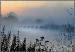 Mist, Alrewas Weir.