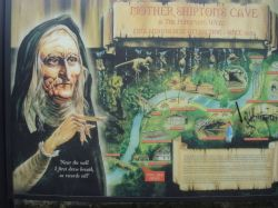 Mother Shipton's Cave information board
