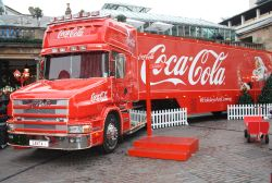 Coca Cola Lorry in Covent Garden, London