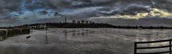 River Trent in Flood, Trent Lock, Long Eaton