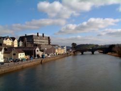The River Towy at Carmarthen Wallpaper