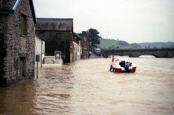 Floods at Carmarthen Wallpaper