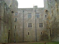Inside Bolton Castle Courtyard