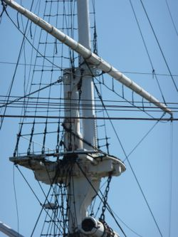 The mast at HMS Ganges.