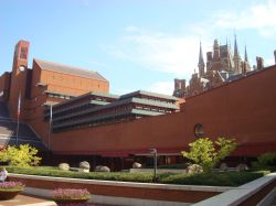British Library and St Pancras spires