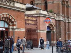 One of entrances to St Pancras Station