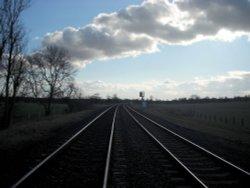 Cropredy railway crossing Wallpaper