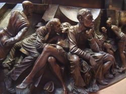 Part of a frieze of 'The Meeting Place' statue