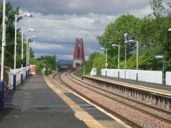 South end of the Forth Bridge from Dalmeny Station