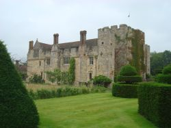 West face of Hever Castle from Topiary Walk