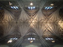 The great vault of the Cathedral, Canterbury