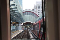 Nearing Canary Wharf Station, London