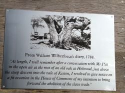 Memorial plaque,Keston