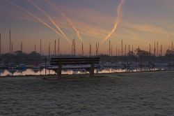 Contrails over Fareham Creek