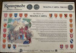 Magna Carta - The information board.