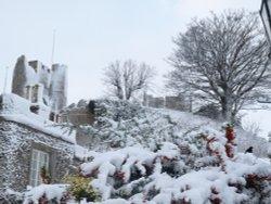Lewes Castle snowed in