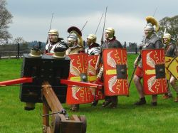 Roman Legion at Chesters fort
