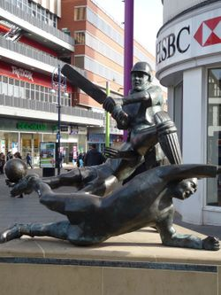 Leicester sports sculpture