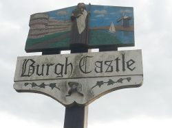 Burgh Castle sign, Norfolk