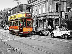 Crich Tramway Museum Glasgow Tramcar number 812