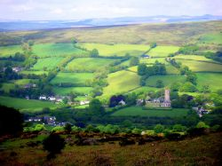A view over Dartmoor close to Widecombe in the Moor
