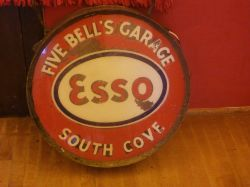 A very old petrol sign at South Cove
