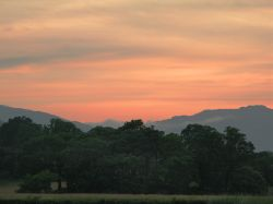 Sunset over the Langdale Fells